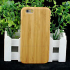 Genuine Natural Bamboo Hard Back Case for Apple iPhone 6 / 6 Plus Hand Made NEW
