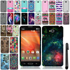 For LG Optimus Exceed 2 VS450 Snap On PATTERN HARD Case Phone Cover + Pen