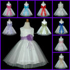 USD76 Ivory Layer Bow BridesMaid Wedding Baby Flower Girls Dress 6 Months to 13