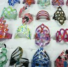 20-100pcs Wholesale Jewelry mixed shine color Frosted Mixed Rings Free shipping