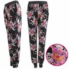 NEW WOMENS LADIES FLORAL PRINT HAREM TROUSERS BAGGY PANTS TAPERED JOGGER LOOSE