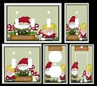 CUTE LITTLE GARDEN GNOMES MUCHROOMS  LIGHT SWITCH COVER PLATE K1 U PICK SIZE