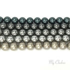 Swarovski 5810 Crystal Round Pearls Beads GREY Colors Mix