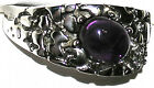 Men's Nugget Cabachon Amethyst & Topaz Stainless Steel Ring February Stone TK959