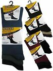 6 Mens Stay-Up Diabetic Non Elastic Cotton Rich Wider Loose Top Socks / UK 6-11
