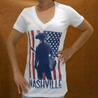 Nashville Country Music Women V-Neck T-Shirt