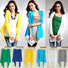 Summer Casual Long Sleeve Cardigan Air-Condition Sweater Coat Outwear Tops