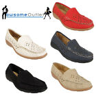 LADIES CASUAL SMART WORK MOCCASIN LIGHWEIGHT LOAFERS SLIP ON COMFORTABLE SHOES