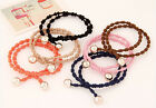 Wholesale lots Lady Elastic Rubber Fashion Hairband Hair Tie Rope Band Ponytail