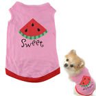 Summer Cute Small Pet Dog Puppy Cat Clothes Watermelon Printed Pink Vest Nice