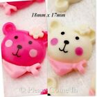 Kawaii Flat Back Resin Teddy with Bandana Cabochon Charm