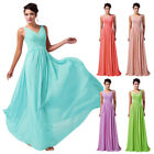 CHEAP!! Plus Size Long Formal Evening Dresses Sexy V Bridesmaid Party Prom Dress