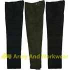 6 Pocket Plain Combat Cargo Work Trousers Workwear Pants Security Army Police