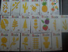 PK 20 CARD SHAPES FLORA & FAUNA -flowers fence greenery DIE CUTTER NOT 4 SALE