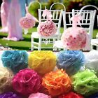 "6""  Artificial Silk Rose Kissing Flower Ball Pomander Bouquet Wedding Decoration"