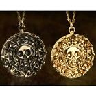 1pcs JACK SPARROW AZTE Pirates of the Caribbean Gold Coin Medal Necklace DJNG