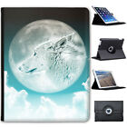 Moonlight Wolf Folio Cover Leather Case For Apple iPad