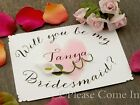 """Personalised """"Will You be My Bridesmaid"""" Invitation Card with Calla Lily"""