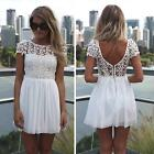 Women Summer Bandage BodyCon Lace Evening Sexy Party Cocktail MINI Dress DJNG