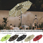 9' Patio Solar Umbrella LED Tilt Aluminium Deck Outdoor Garden Parasol Sunshade