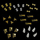 10pcs Alloy Gold Silver Special Note Metal 3D Nail Art Tips Phone Decoration