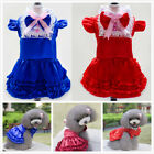 New Dog Pet Apparel Bow Tutu Wedding Party Puppy Princess Dress Skirt Clothes