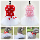 New Dog Pet Apparel Flower Tutu Wedding Party Puppy Princess Dress Skirt Clothes