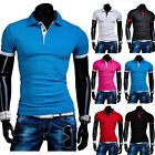 New Fashion Men's T-shirt Color Contrasting Basic Short Sleeve Tee Shirt Tops