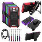 Phone Case For HTC Desire 512 Edge Cover Stand Holster-Clip USB-Charger Stylus