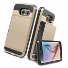 Card pocket Wallet Slim Hybrid Case cover for Samsung Galaxy S6 S5