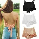 Womens Sexy Fashion Straps Backless Camisole Crop Bralette Tops Bra Tank Vest