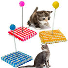 CATS SCRATCHING TOY SWAY POLE POST PLAYING ACTIVE BALLS BLUE YELLOW PINK TEASER