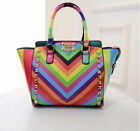 Women's fashion Ladies rainbow rivets Bag Handbag Briefcase Bag Purse