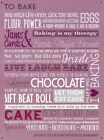 New To Bake Food Therapy Metal Tin Sign