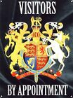 New Visitors by Appointment Coat of Arms Metal Tin Sign