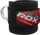 RDX Ankle Strap Gym Twin D-Ring Multi Cable Attachment Leg Thigh Pulley Lifting