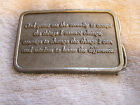 Bergamot Brass Works Belt Buckle F-49 The Serenity Prayer