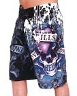 NEW ED HARDY MENS LOVE KILLS SLOWLY PAINT BLACK SURF BOARD SHORTS SWIM TRUNKS