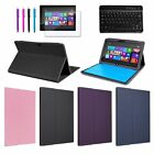"""Leather Stand Case Cover for Microsoft Surface RT 10.6"""" Tablet + Keyboard/Film"""