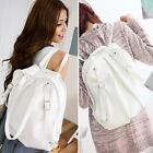 2 in 1 Women Bag PU Leather Backpack Shoulder Bag Handbag School Bag White New