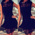 Fashion Sexy Women Summer Lace Crochet Party Cocktail Short Mini Dress GFY