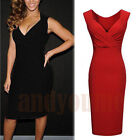 2015 Sexy Women V Neck Bandage Bodycon Cocktail Slim Pencil Dress Evening Party