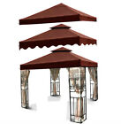 10'x10' Nutmeg Brown Outdoor Garden Patio Canopy Top Replacement Cover Fabric