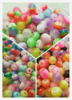 F&S Mixture color translucent stripe resin bead Scattered bead 6/8/10mm DF35