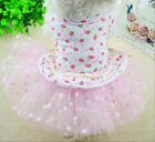 Spring Summer Dog Pet Cat Dress Clothing Coats Princess Dog Skirt Dog clothes