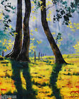 Backlight oil Painting Listed Artist Landscape Sunlight Impressionist by Gercken