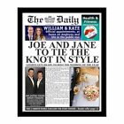 Personalised Wedding Newspaper Photo Gift Present Idea for Bride Groom Couple