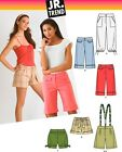 Sew & Make Simplicity 3849 SEWING PATTERN - Junior Miss CROPPED PANTS SHORTS