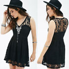 Women Sleeveless Party Cocktail Evening Size Bandage Summer Lace Sexy Mini Dress