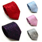 Classic Paisley Jacquard Woven Mens Tie Necktie for Workwear Wedding 5Color